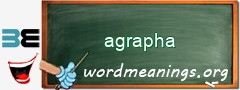 WordMeaning blackboard for agrapha
